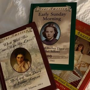 3 Volumes Dear America Youth History Books
